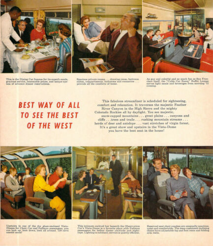 1963 WESTERN PACIFIC CALIFORNIA ZEPHYER TIME TABLE