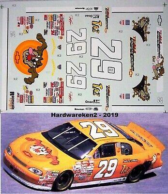 NASCAR DECAL #29 TAZ - TEAM MONTE CARLO 1996 MONTE CARLO JEFF GREEN - 1/24