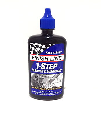 Finish Line 1 One Step One Bicycle Bike Chain Cleaner   Lube Lubricant 4 Oz New