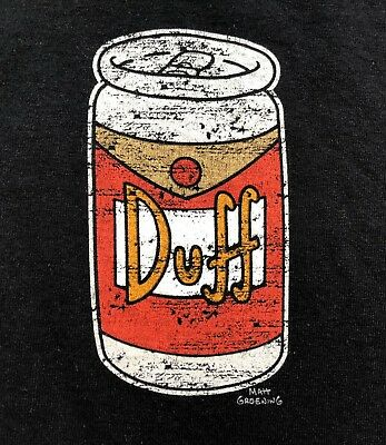Official Duff Beer T Shirt   Medium   The Simpsons Universal Studios Homer Bart