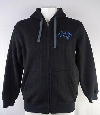 Carolina Panthers NFL Team Apparel Men's Black Full-Zip Fleece Hoodie (Nfl Panthers Hoodie)