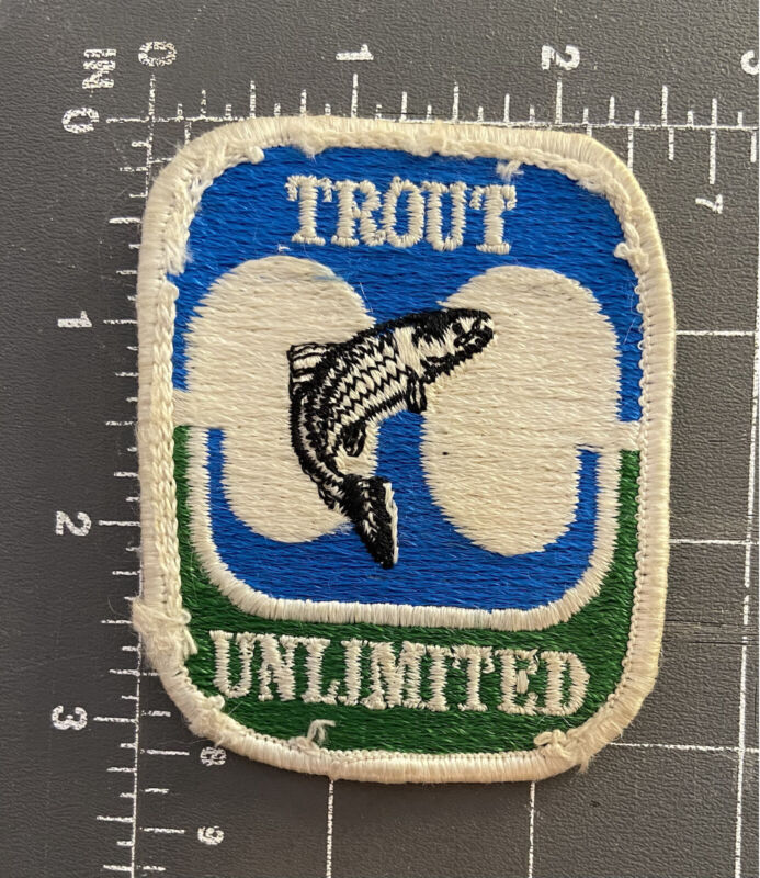 Vintage Trout Unlimited Patch TU Anglers Fishing Angling Fisherman Conservation