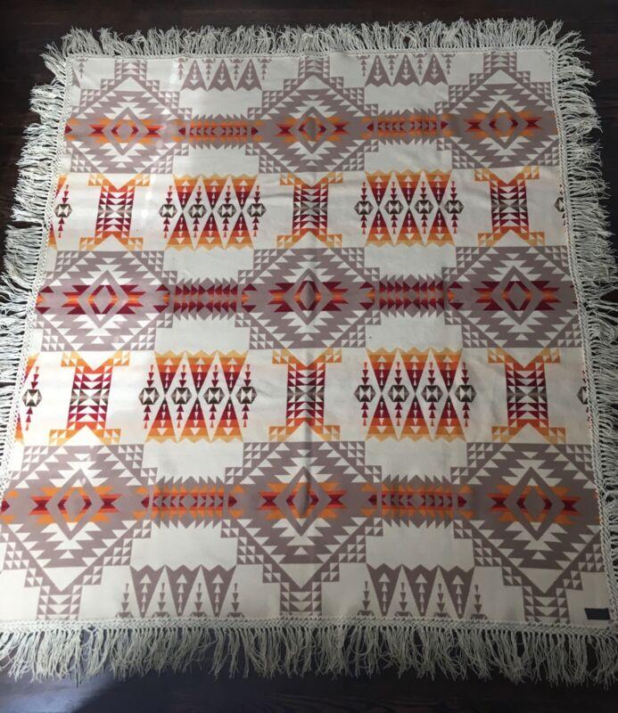 Vintage Reversible Pendleton Beaver State Wool Trade Blanket (circa 1923-1931)
