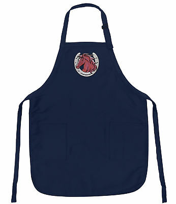 (Horse Horseshoe Aprons BEST DELUXE Horse APRON  UNIQUE HORSE GIFTS Kitchen Large)