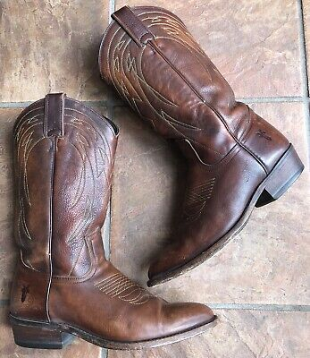 Frye Womens Western Brown Leather Boots Size 9 B
