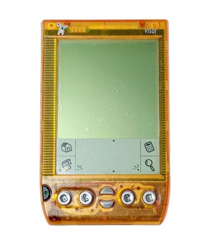 Handspring Visor Deluxe Translucent Orange Portable PDA Organizer Palm Pilot