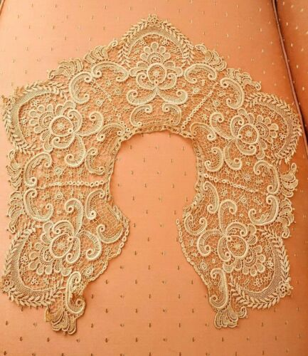 Antique Unused Handmade Lace Collar PRISTINE CONDITION RARE HARD TO FIND