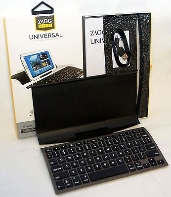 Zagg Keys Universal Tablet Bluetooth Folio Keyboard Stand iPad 2/3/4/Air/Mini yo