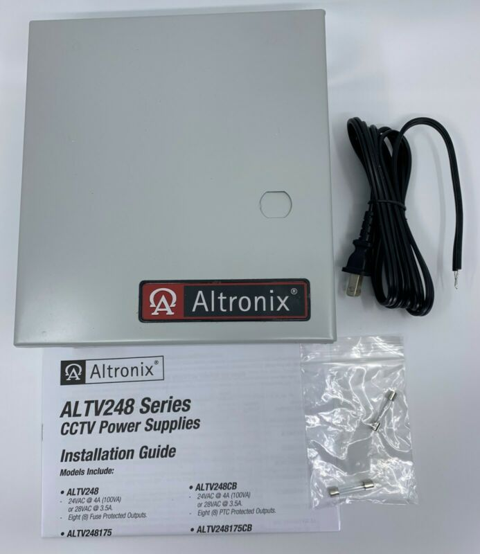 Altronix ALTV248, 8 Output, CCTV Power Supply (24VAC @ 4Amp or 28VAC @ 3.5Amp)