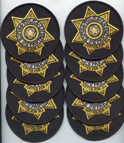 TULSA OKLAHOMA OK Trade Stock 10 Police Patches POLICE PATCH