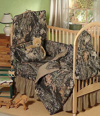 MOSSY OAK CAMOUFLAGE BABY CRIB BEDDING SHEET & PILLOW CASE SET - (Camouflage Crib Sheet Sets)