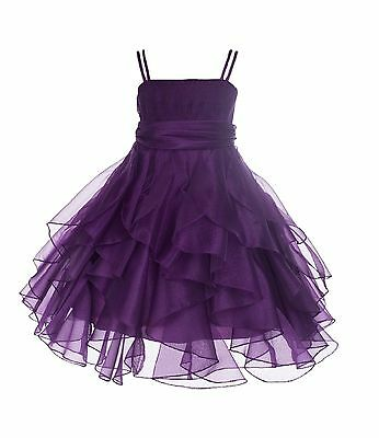 ORGANZA FLOWER GIRL DRESS PAGEANT WEDDING BRIDESMAID PARTY 2 3T 4 5 6 8 10 12 14 - Flower Girl Dresses Organza