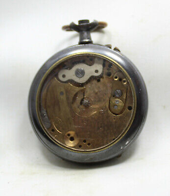 Old Ladies Swiss Pocket Watch For Spare parts or repair!
