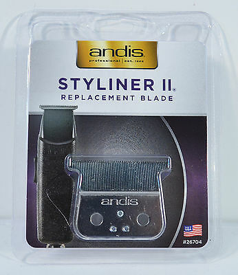 ANDIS STYLINER II TRIMMER REPLACEMENT BLADE #26704 FACTORY SEALED PACKAGE