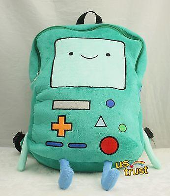 Adventure Time Plush Bmo Beemo Game Plush Backpack 13  Shoulder Bag