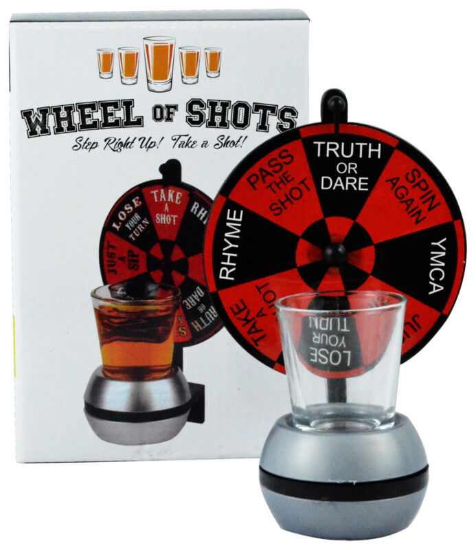 Wheel Of Shots Spinning Shot Glass Drinking Game Fun Party Alcohol Night Out Set
