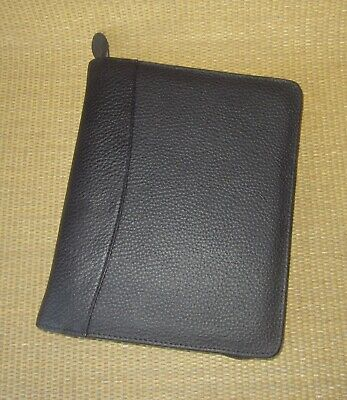 Classic Franklin Covey New Black Pebbled Leather 1.125 Rings Plannerbinder