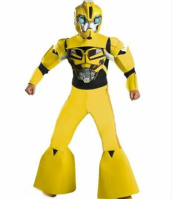 Transformers Prime Deluxe 3-D Size 4-6 Small Bumblebee Costume New