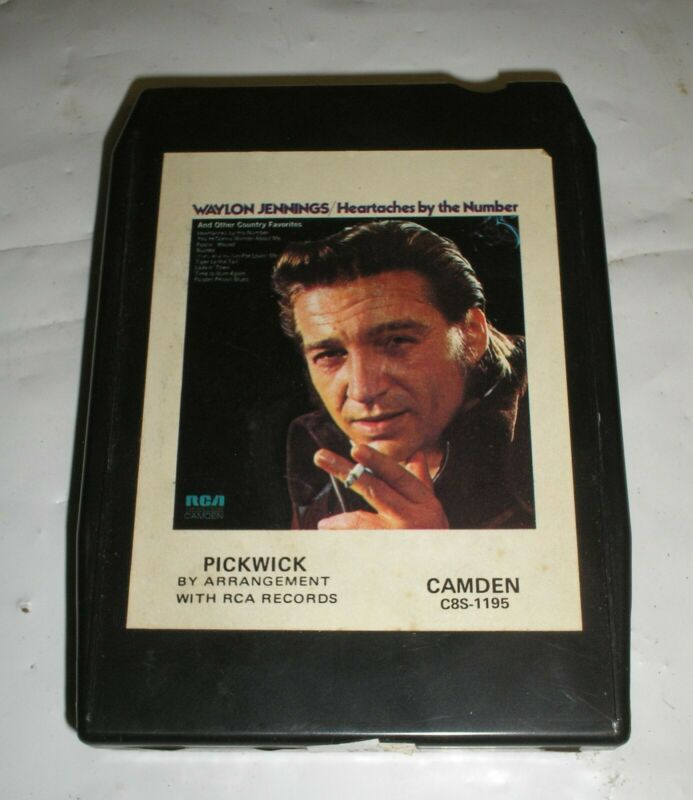 "Waylon Jennings - ""Heartaches By The Numbers"" & Other Favorites - 8 Track Tape"