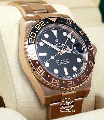 Rolex GMT-MASTER II 126715 ROOT BEER 18K Rose Gold Ceramic Watch B/PAPER *UNWORN