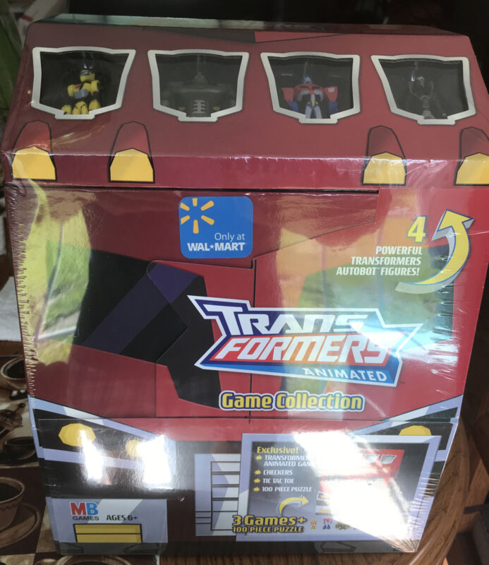 milton bradley Trans Formers Animated Game Collection  New In Sealed Carton