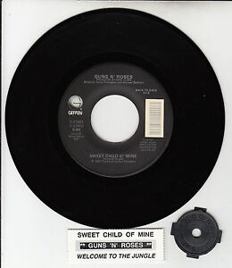 GUNS-N-ROSES-Sweet-Child-O-Mine-Welcome-To-The-Jungle-45-rpm-7-NEW-record