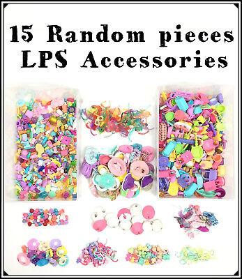1 Bag Littlest Pet Shop Lot 15 Random Accessories Clothes, Food, Skirt : Dog...