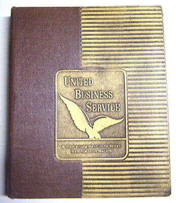 Vintage 3 Ring 3d Embossed United Business Investment Reports Service Binder