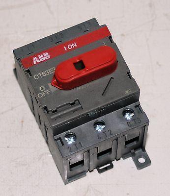 80 AMP 3 Pole Disconnect Switch ABB OT63E3 1SCA022376R6410