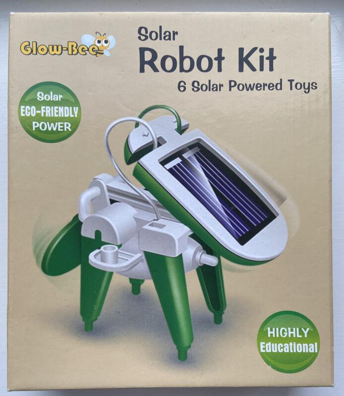 Glow-Bee+Solar+Robot+Kit+-+Make+6+Solar+Powered+Toys+-+BNIB%21