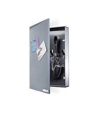blomus Schlüsselkasten Glasmagnettafel  Velio grau  Nr. 65372 neu u. ovp.