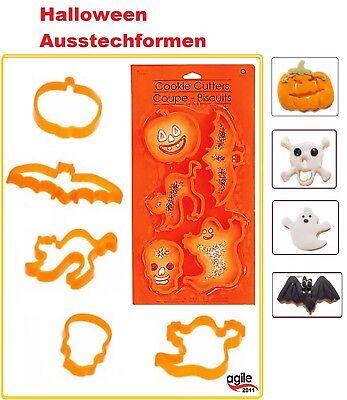 Kuchen Dekoration Halloween (5 Halloween Ausstechformen Party Kuchen Dekorationen Katze Kürbis Fledermaus)