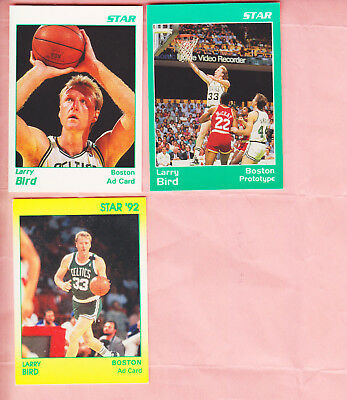1990 92  Star Co  Group Of 3  Larry Bird  Glossy  Promo Cards
