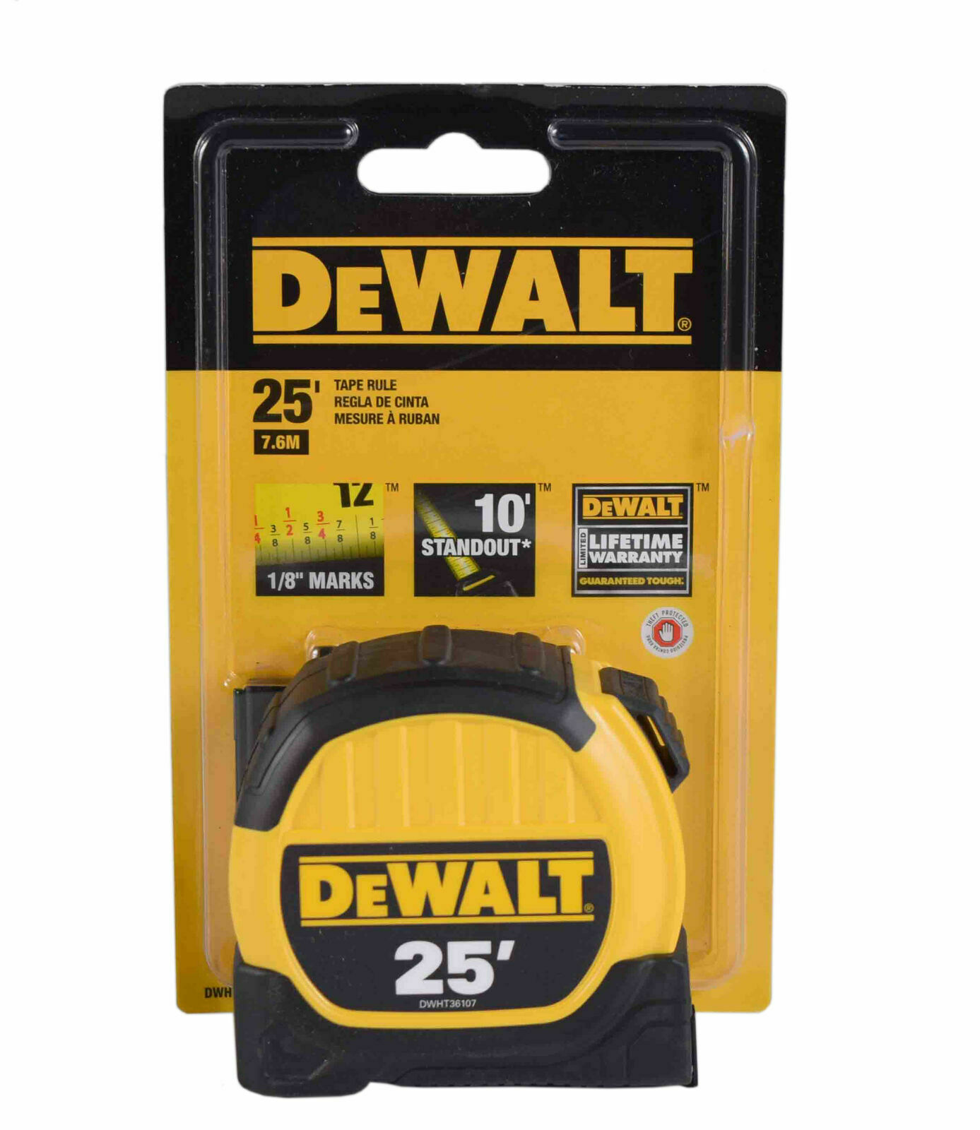 DEWALT DWHT33373L 1 1/8-Inch x 25-Foot Short Tape, 10-Foot S