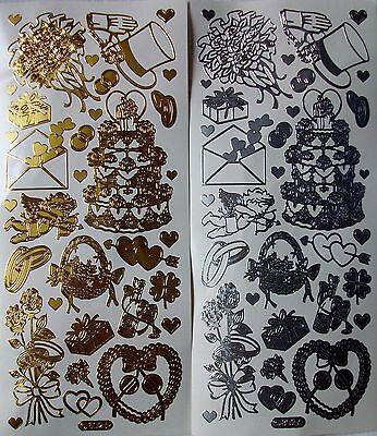 eit - Motive in gold oder silber - Stickerbogen  (Bögen Für Hochzeiten)