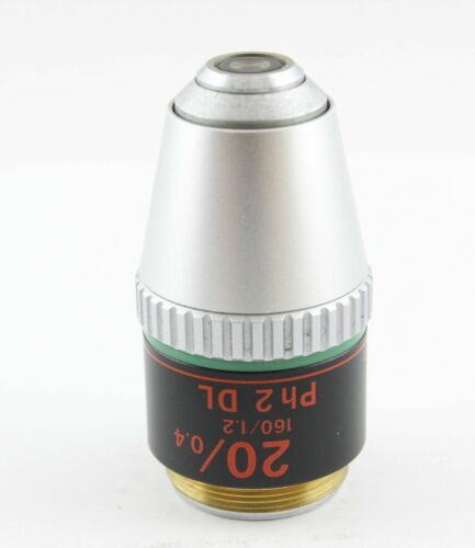 Nikon 20X/0.4 ~  Ph2 ~  DL Microscope Objective Phase Contrast 160mm