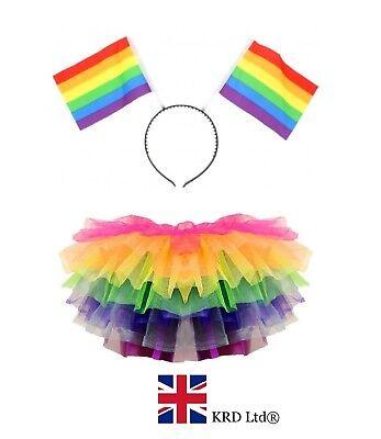 RAINBOW TUTU COSTUME Halloween LGBT Pride Gay Pony - Gay Halloween