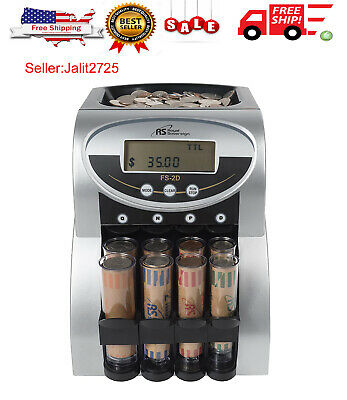 Coin Change Sorter Machine Money Counter Sort Count Wrapper Electronic Digital N
