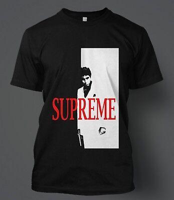 Supreme 18FW Scarface Split Mens Black Short Sleeve T-Shirt Size L-XL