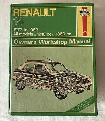 Vintage 1986 RENAULT 14 1977-1983 1281cc-1360cc Haynes Workshop Car Manual 362