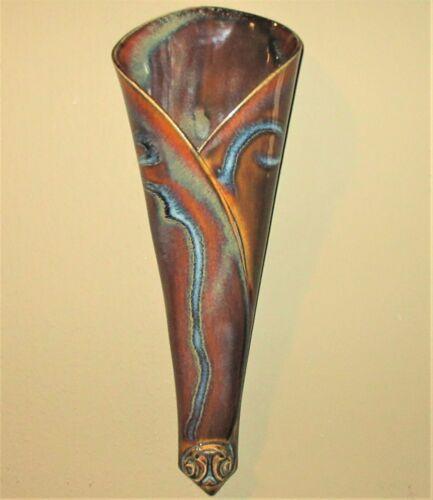 Beautiful Ceramic Wall Pocket -Signed Hilborn