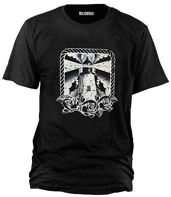 Freiheit Schwarzes T-shirt (Wolkenbruch® T-Shirt Leuchtturm Freiheit Gr.M bis XXXXL)