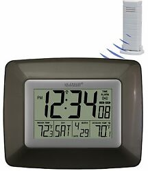 WS-8119U-IT-CHO La Crosse Technology Atomic Digital Wall Clock Temp TX38U-IT-N