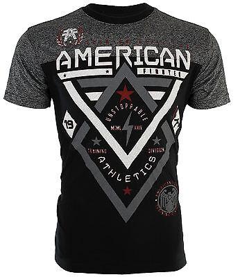 American Fighter Mens S/S T-Shirt ALASKA PATTERN Black Elephant Print S-3XL $40