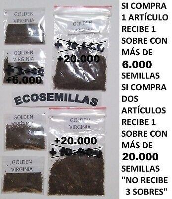 Tabaco Golden Virginia rubio, más de 6000 semillas ecológicas. Compra 2 envío...