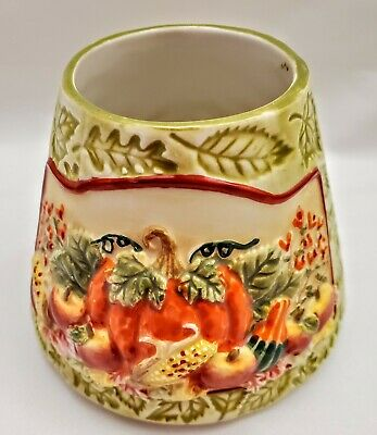 YANKEE CANDLE TERESA KOGUT small AUTUMN SPLENDOR CERAMIC SHADE FOR JAR CANDLE
