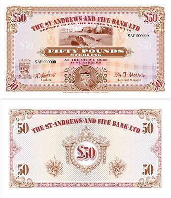 """The St. Andrews and Fife Bank Ltd £50  """"Art Note"""""""