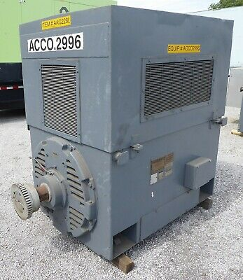 Rebuilt 1000 Hp General Electric Motor Frame 8311s 1180 Rpm 4160v Wp2 1.15 E-ok