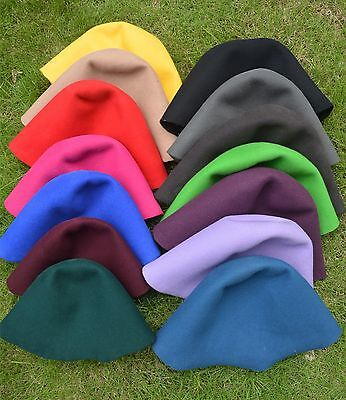 Felt Wool Cone Cloche Hood Millinery Hats Fascinators Block Base Hat body -