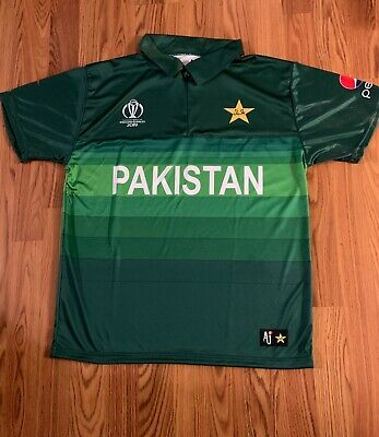 7feb78b8d94 ICC World Cup 2019 Pakistan Cricket T Shirt Jersey Official AJ Product All  Sizes